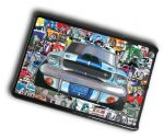 KOOLART STICKER BOMB STYLE Design For Retro Ford Shelby Mustang Case Cover For iPad Mini 1 2 3